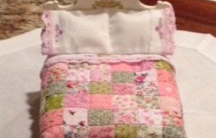 Dollhouse Miniature Quilt and Sheets