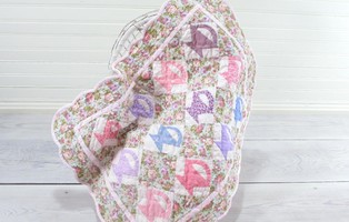 Pieced Basket Doll Quilt