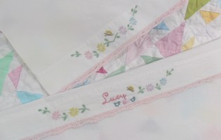 Doll Pillow Case Embroidered Name